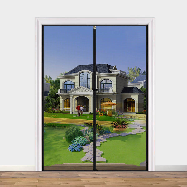 "Mesh Door Screen with Magnets 36, Fit Doors Size Up to 36""W x 82""H with Full Frame Hook&Loop Strip and Special Windproof Hasp Design"