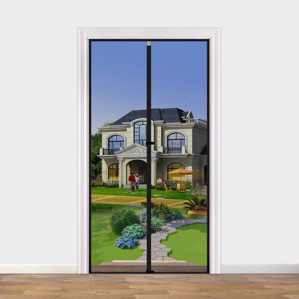 "Screen Doors with Magnets 36 x 96, Heavy Duty Mosquito Door Net Fit Doors Size Up to 36""W x 96""H Keep Fly Bug Out"