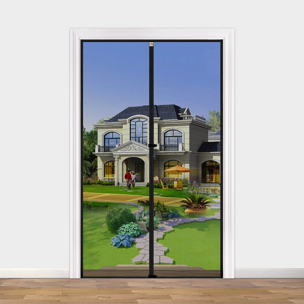 "Magnet Screen Door Curtain 38, Mosquito Patio Screen for Doors Size Up to 38""W x 80""H High Transparent Hands Free Entry Great for Pet and Kid"