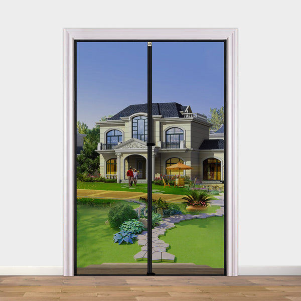 "Magnetic Screen Door 38 x 82, Upgraded Anti-Tearing Fiberglass Mesh French Door Screens with Magnets Fit Doors Up to 38""W x 82""H Keep Bug Out"