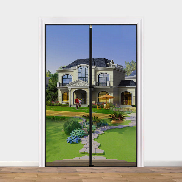 "Hanging Magnetic Screen Door 48 x 80, Mosquito Door Screen Magnet Fit Doors Size Up to 48""W x 80""H for Walk Through Sliding Screen Back Door"