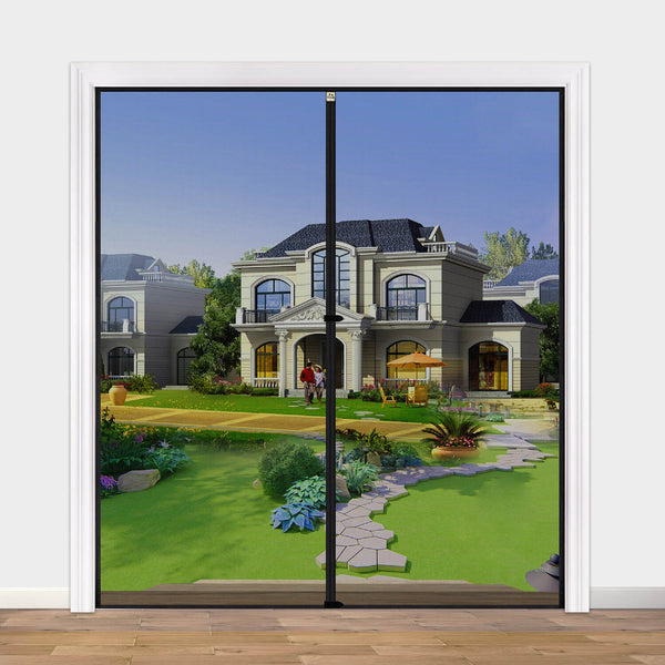 "Magnetic Screen Door 72 x 80, Strengthened French and Patio Door Screen Curtain Fit Doors Size Up to 72""W x 80""H Max Keep Fly Bug Out"