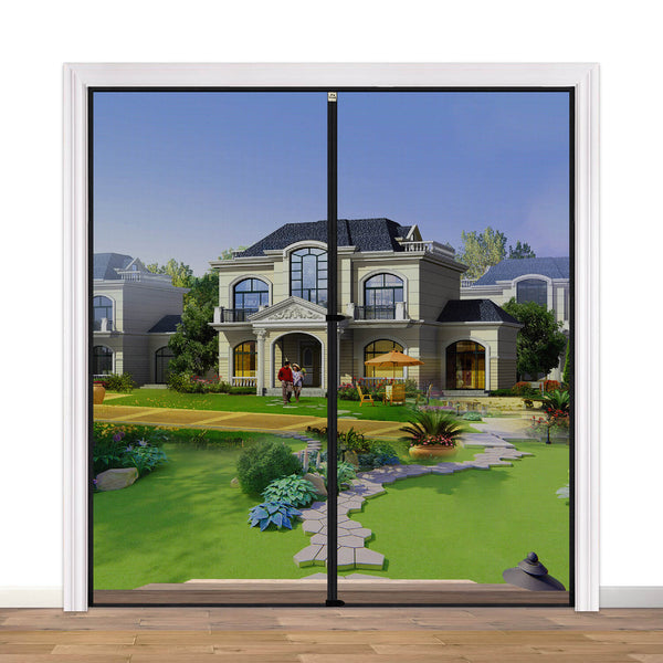 "Wide Door Screen with Magnets 72, Retractable Mosquito Net Hanging Tools Free Installation Fit Doors Size Up to 72""W x 82""H Patio Walk Thru Sliding Door"