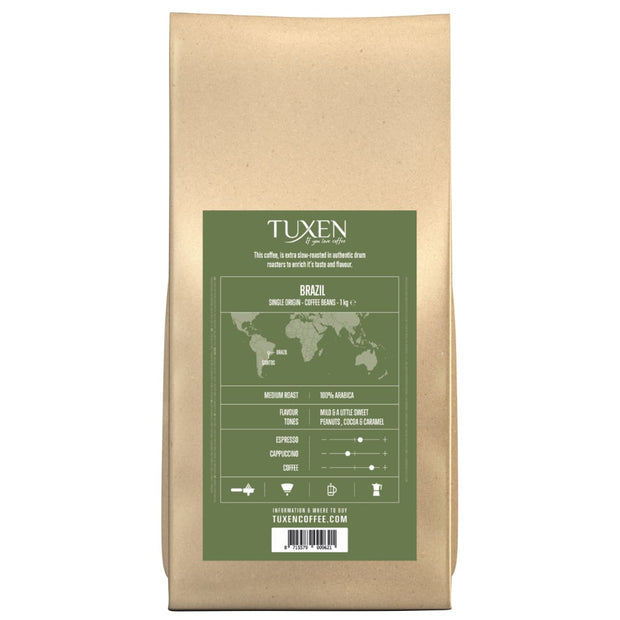 Tuxen Single Origin kaffebønner fra Santos Brazil