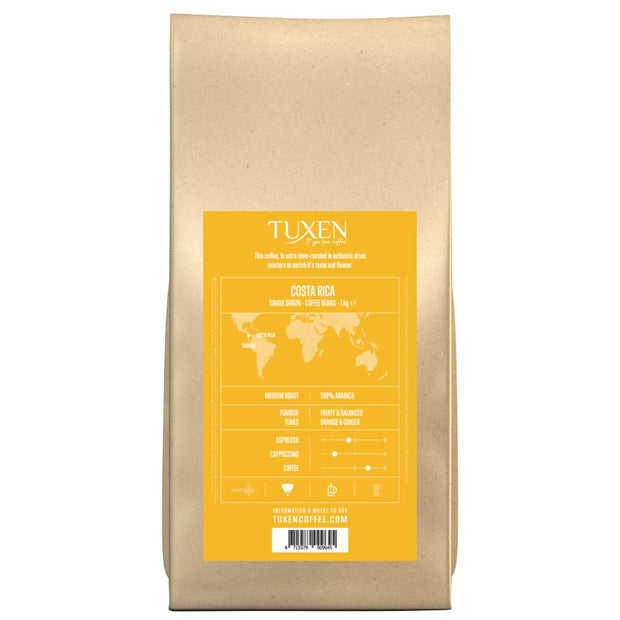 Tuxen Single Origin kaffebønner fra Costa Rica