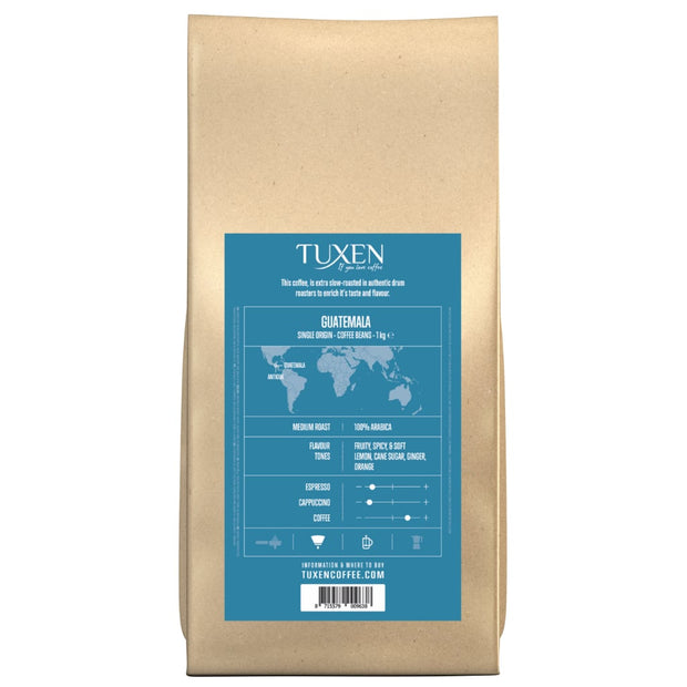 Tuxen Single Origin kaffebønner fra Guatemala