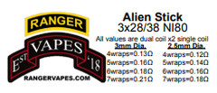 Ranger Vapes Alien Sticks