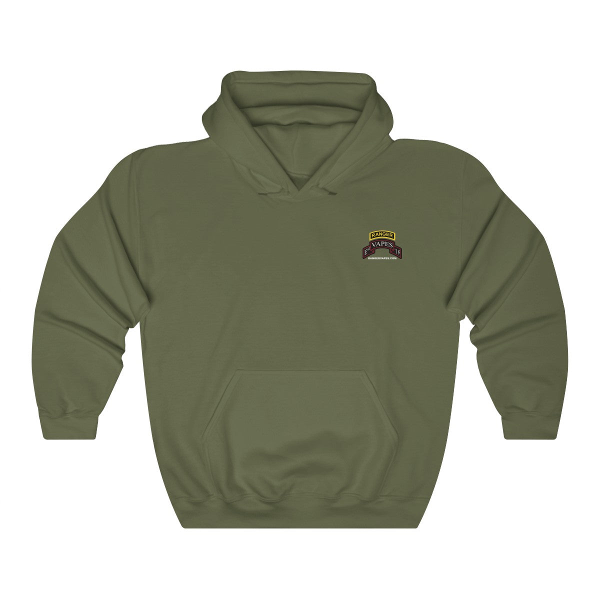 Dark Colored Ranger Vapes Logo Hooded Sweatshirt