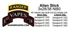 Alien Sticks 3x28g/38g NI80