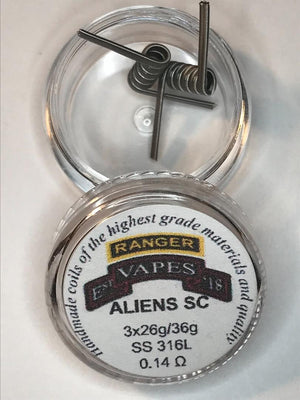 Alien Single Coil 3x26g/36g SS 316L 0.12-0.18Ω (Flavor Banger)