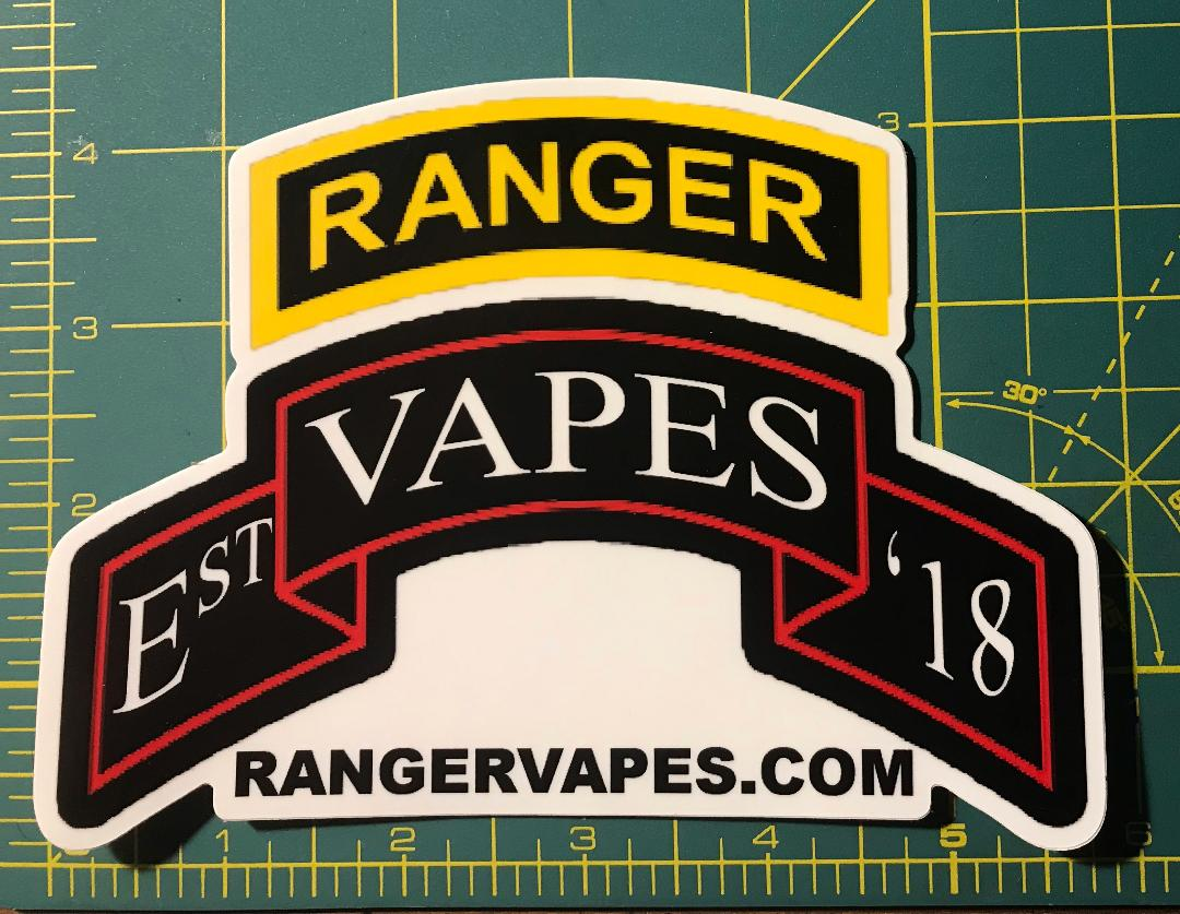 Ranger Vapes Die Cut Sticker