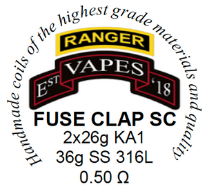 Fused Clapton Single High Ohm build 0.37Ω-0.66Ω