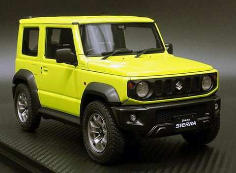 Ignition Model  1/18 SUZUKI Jimny SIERRA JC(JB74W) Kinetic Yellow (IG1707) resin car model available on Nov-Dec  2020 Pre-order item