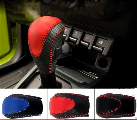 Leather shift knob cover for Jimny 2018-