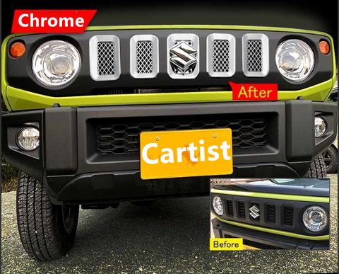 Grille garnish/trim for Suzuki Jimny 2018-