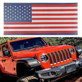 US Flag Mesh Grille Insert - Red Blue 2018-2020 Jeep Wrangler JL