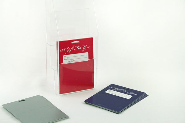eHopper Gift Cards - 3 Tier Backer Acrylic Display Stand