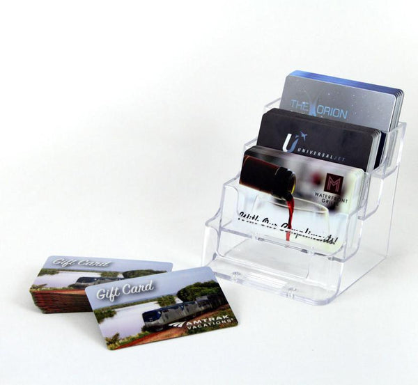 eHopper Gift Cards - Four Slot Plastic Business Card Holder