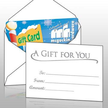 eHopper Gift Cards - White Gift Card Envelopes