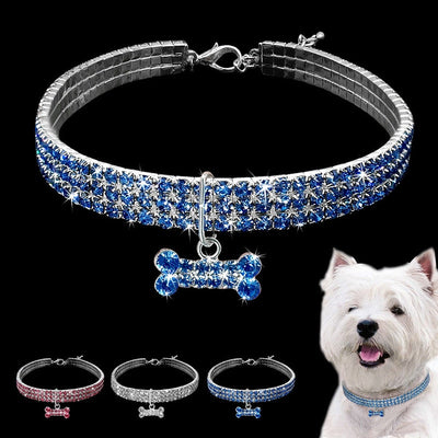 Dog Rhinestone Necklace