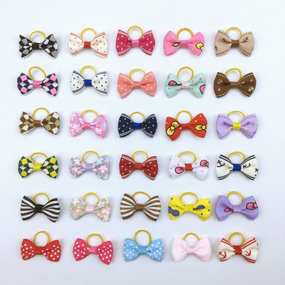 (20 pieces/lot) Cute Ribbon Dogs Hair Accessories