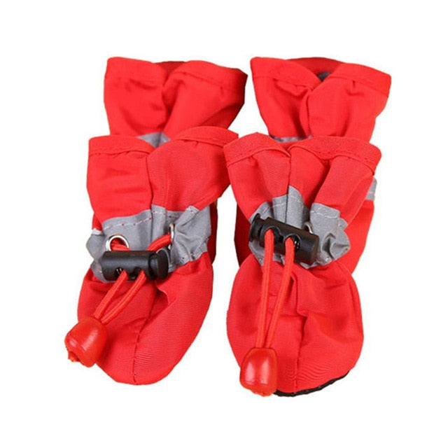 4Pcs/Set Portable Pet Dog Shoes Non-slip Waterproof