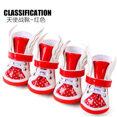 Waterproof Snow Boots For Dogs 4pcs/set