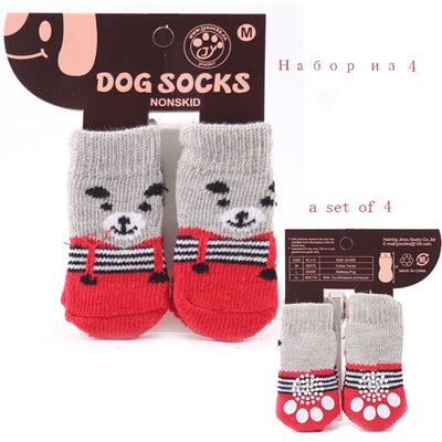 Fashion Dogs Socks 4Pcs