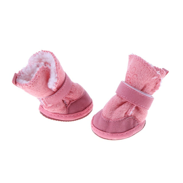 Winter Warm Shoes for Dogs 4Pcs