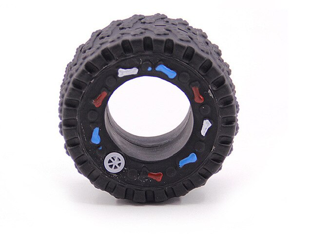 Rubber Squeaky Tire shape Dog Toy