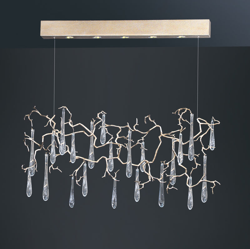 Aqua Horizontal Chandelier