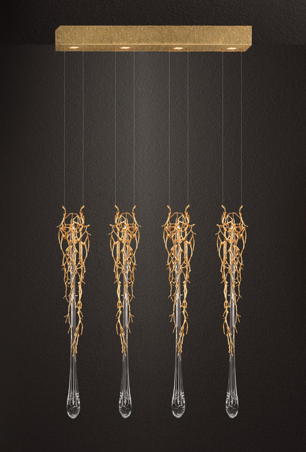 Liquid Quadruple Chandelier