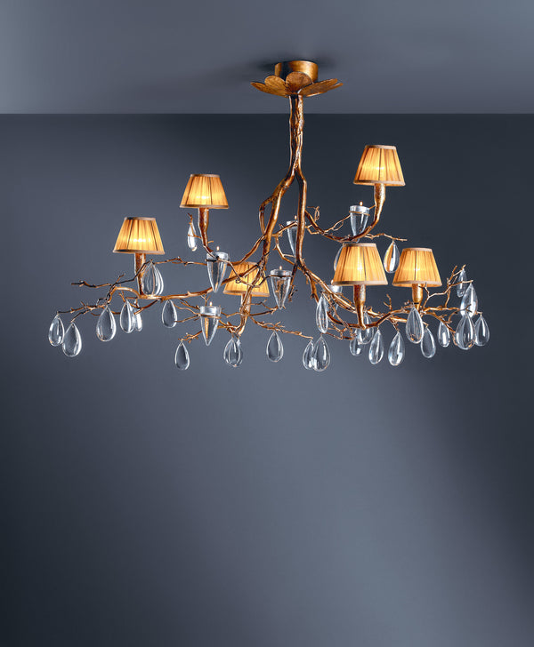 Fascinium 6 Shade Medium Chandelier