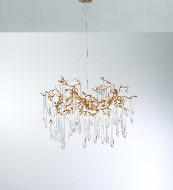 Aqua Organic Medium Chandelier - FLOOR MODEL