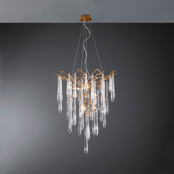 Aqua Funnel Small Chandelier