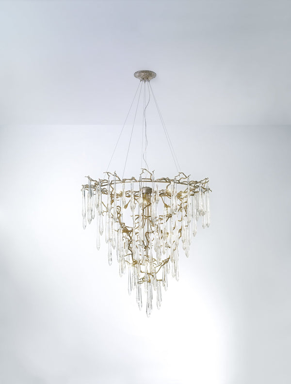 Aqua Funnel Large Chandelier - FLOOR MODEL