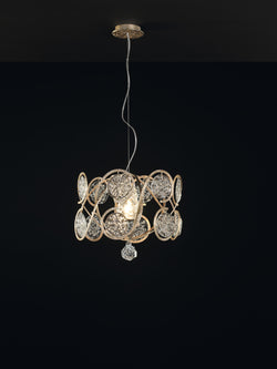 Lines Round Small Chandelier