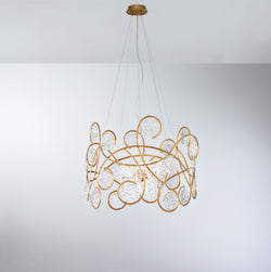 Lines Round Large Chandelier - FLOOR MODEL
