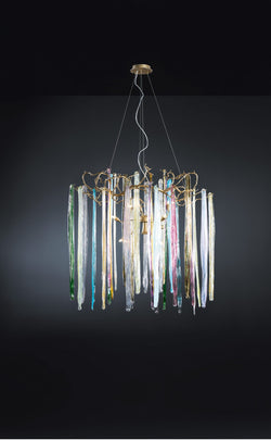 Waterfall Round Medium Chandelier