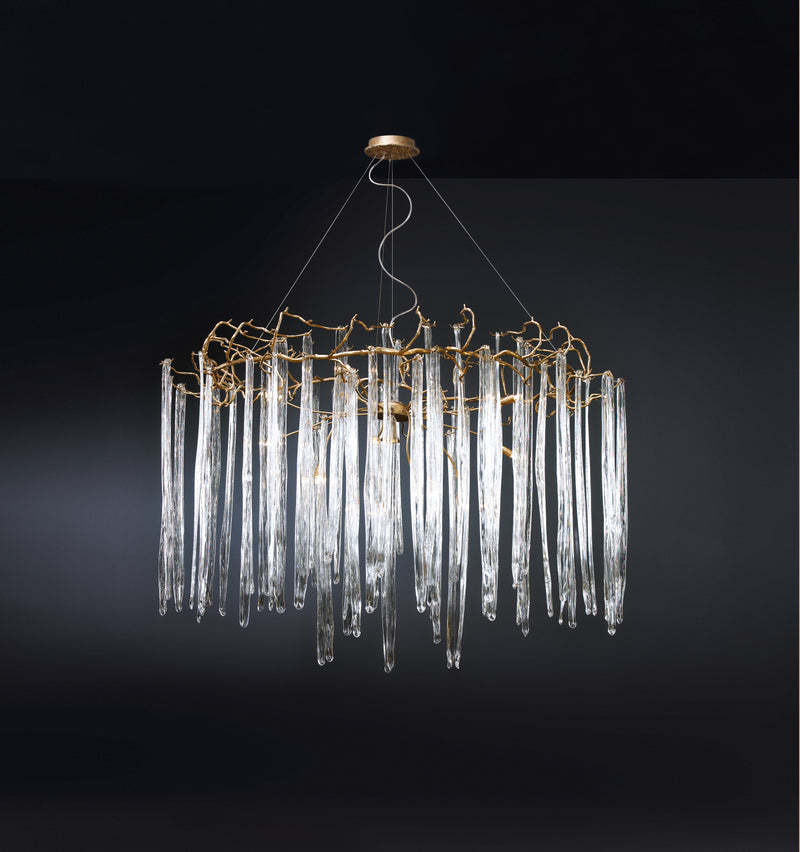 Waterfall Round Large Chandelier - Floor Model