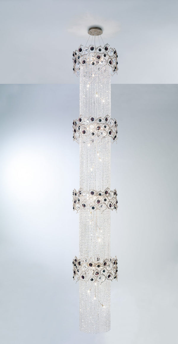 Diamond Cylindrical Tier Chandelier