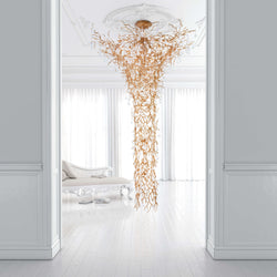 Coral Funnel Staircase Chandelier