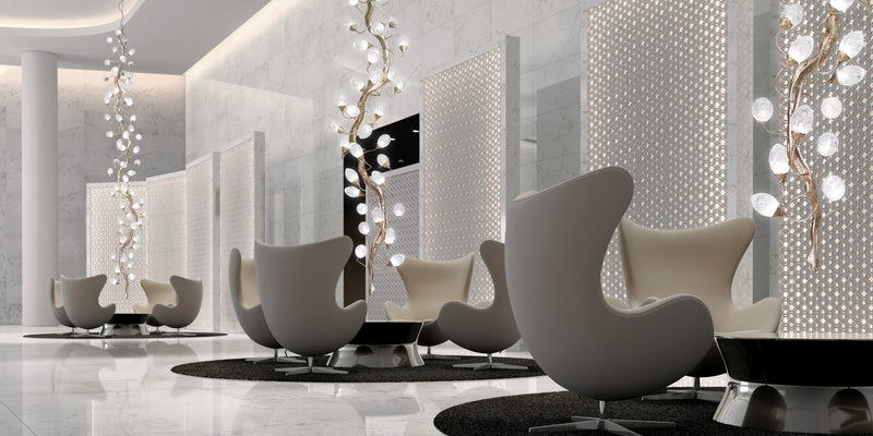 Lotus Medium Staircase Chandelier - Floor Model