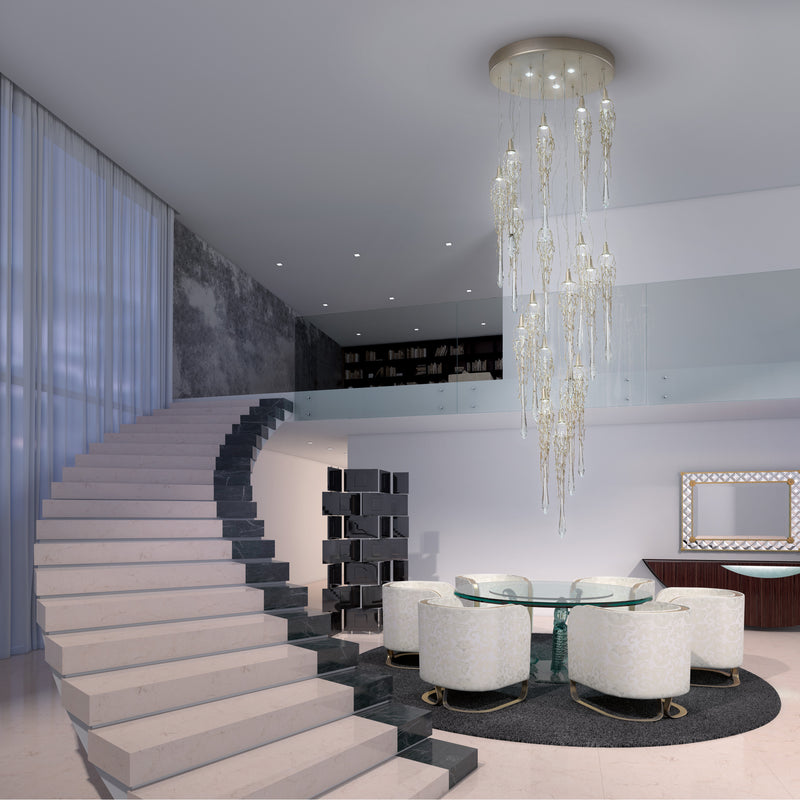 Liquid Staircase Chandelier - Floor Model