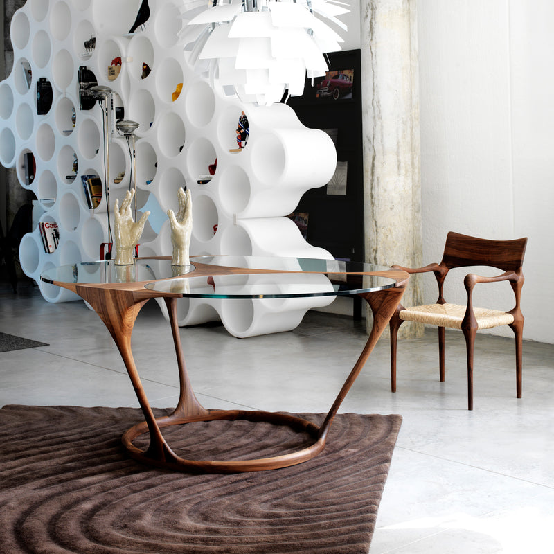 Yris Round Dining Table - FLOOR MODEL