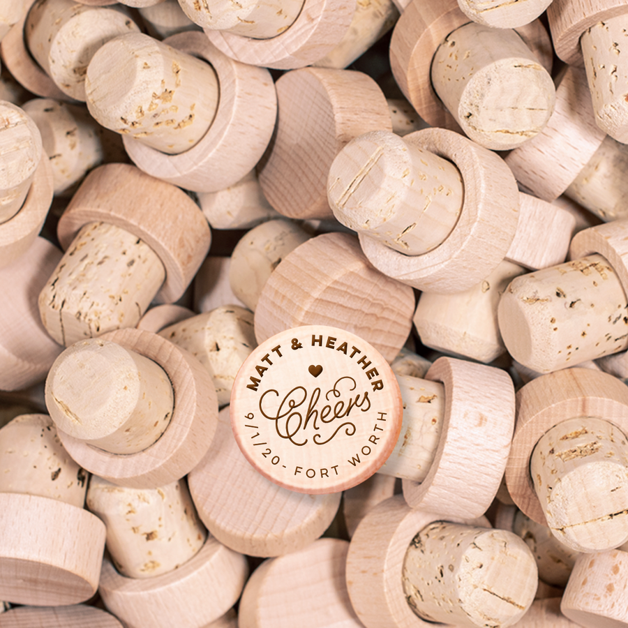 Custom Wine Cork Stopper - Cheers