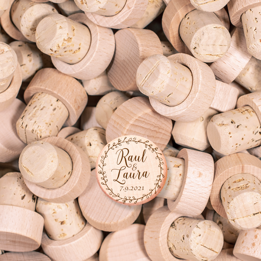 Custom Wine Cork Stopper - Floral