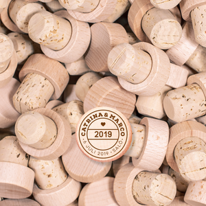 Custom Wine Cork Stopper - Passport Stamp
