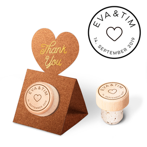 Custom Wine Cork Stopper with Heart Pop-up Card - Heart Design