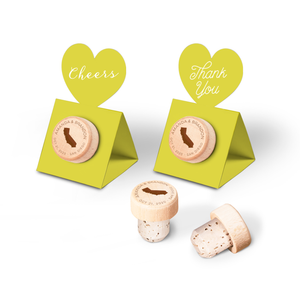 Custom Wine Cork Stopper with Heart Pop-up Card - States of United States of America